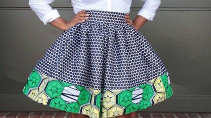 mixed print skirt 2