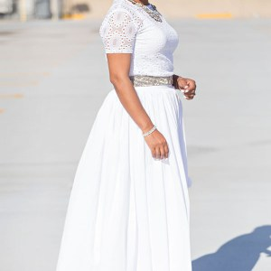Full White Maxi Skirt