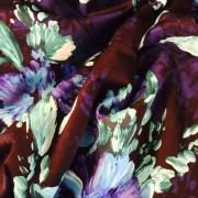 Purple / Black Floral