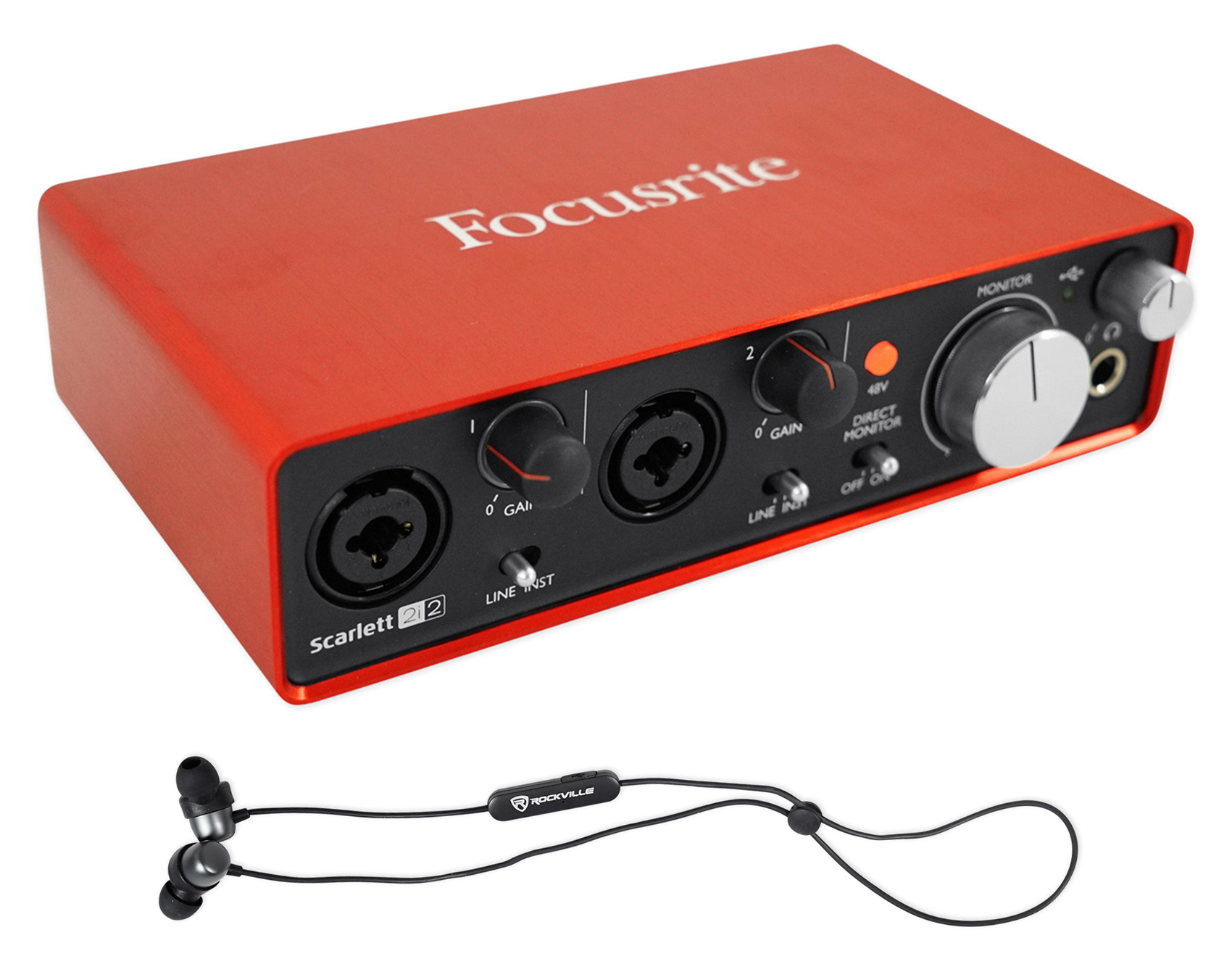 Scarlett 2i2 Details About Focusrite Scarlett 2i2 2nd Gen 192khz Usb 2 Audio Interface Earbuds