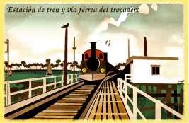 Estación de tren y vía férrea del trocadero