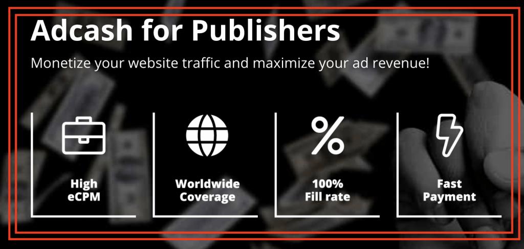AdCash for Publishers