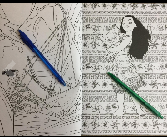 Art of Coloring Moana 100 Coloring Pages - Adult Coloring Book Club