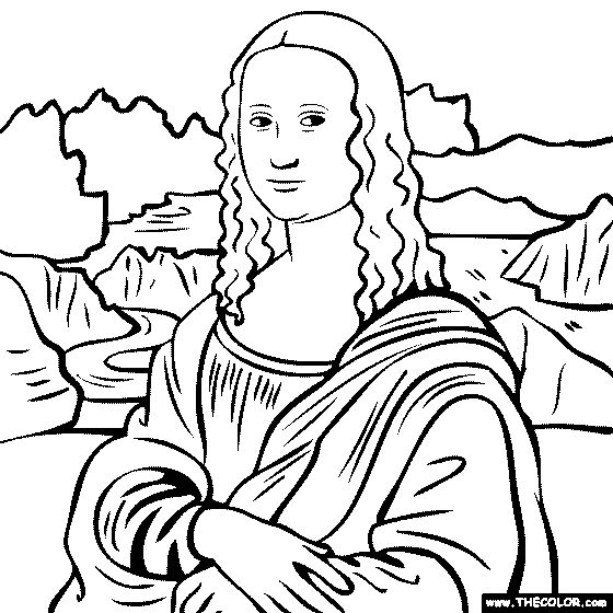 23 Mona Lisa Coloring Page Pictures FREE COLORING PAGES