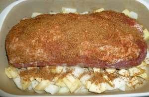 Pork loin with rub