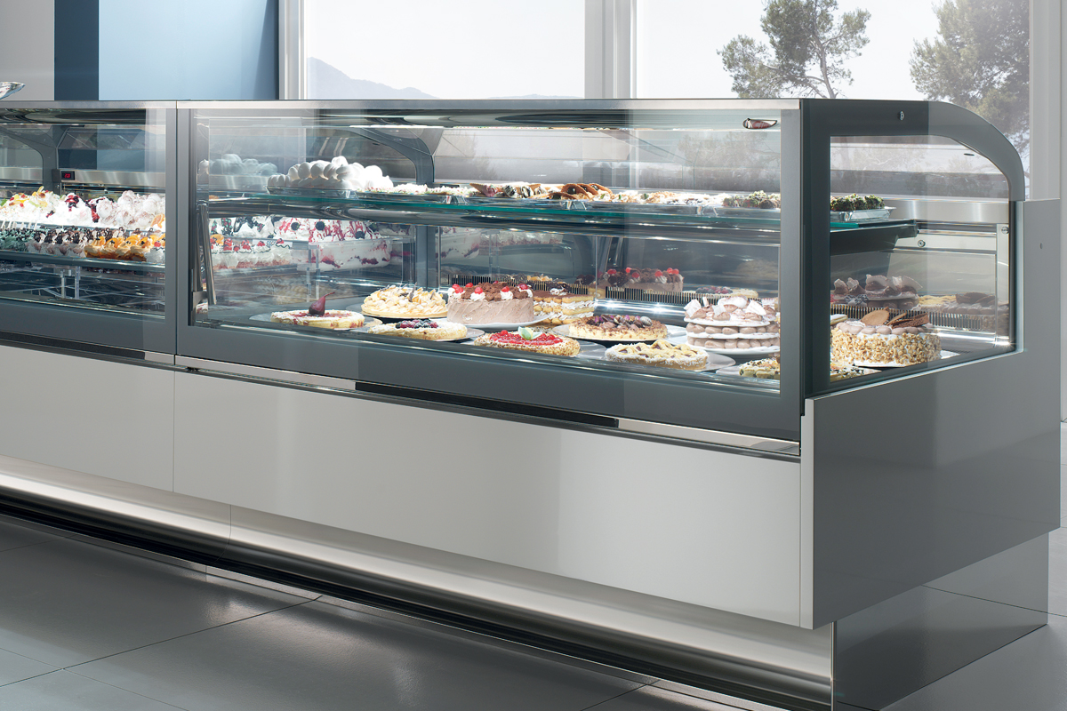 Countertop Bakery Case Refrigerated Pastry Display Cases For Deli Sushi Meat
