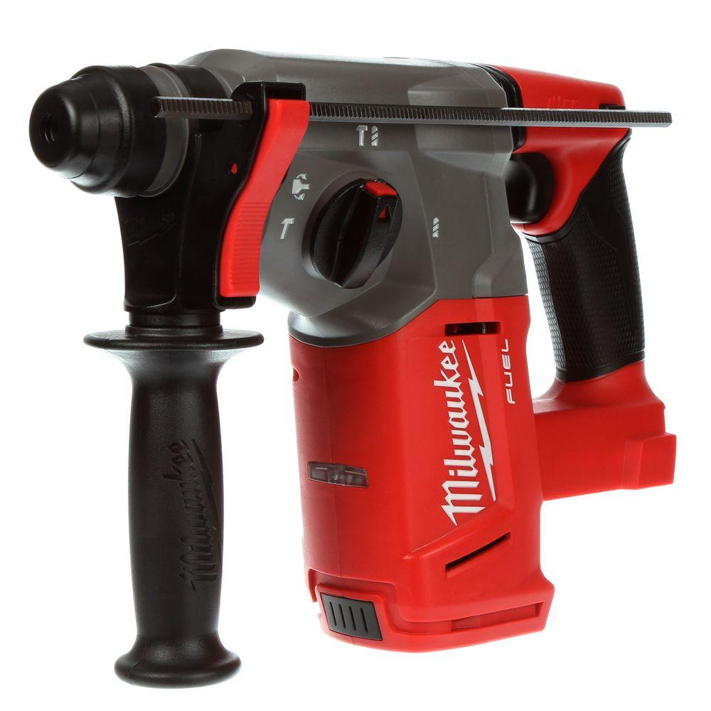 Milwaukee M18 Battery Milwaukee M18 Fuel 18 Volt Lithium Ion Brushless Cordless 1 In Sds Plus Rotary Hammer 2712 20