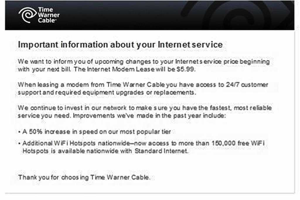 Time Warner Cable raising new modem lease fee 50 percent - syracuse