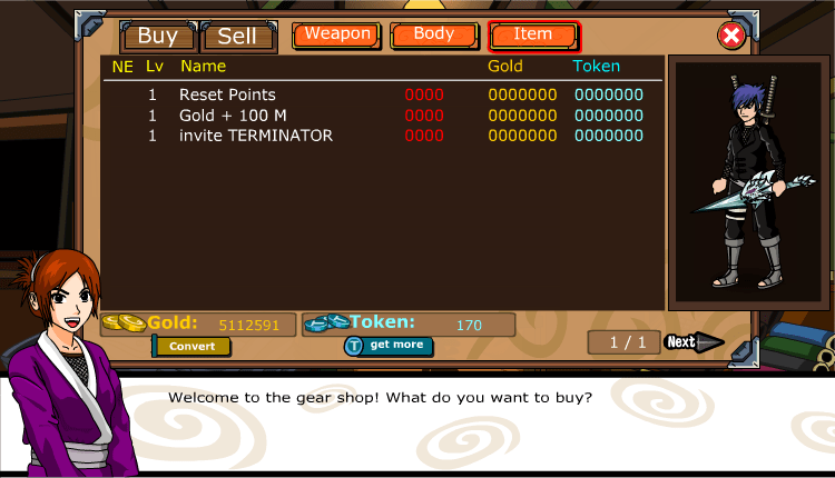 Cheat Ninja Saga Token Permanen Cheat Ninja Saga Recruit NPC Lv 100 23 January 2011 work 750x430