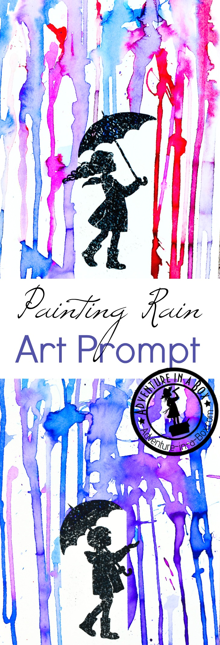 Painting Rain With Printable Art Prompt Adventure In A Box
