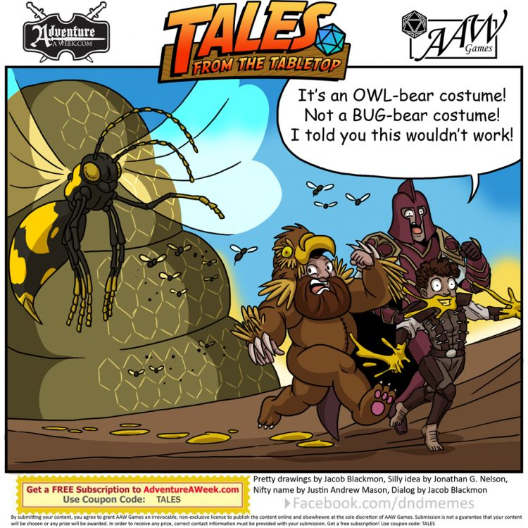 Caption for Tales from the Tabletop #45.