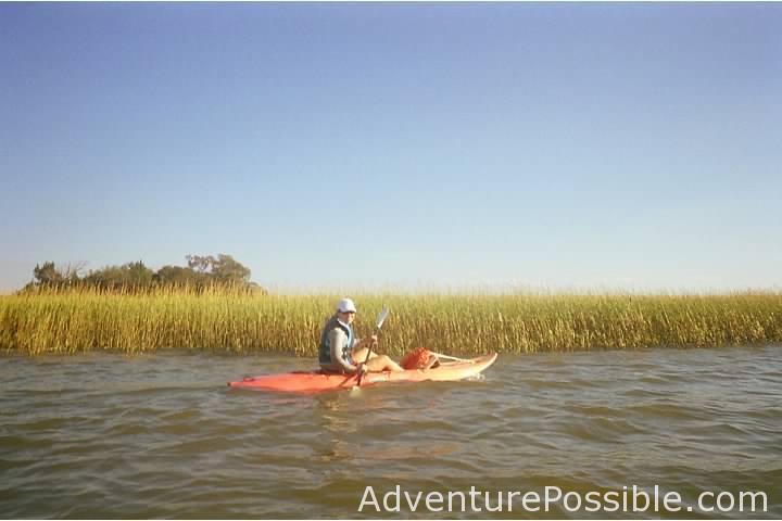 Kayaking the marsh
