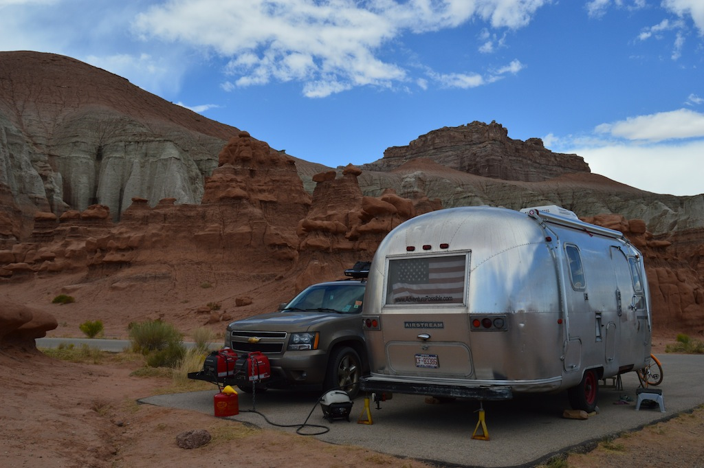 The AIrstream in Goblin Valley