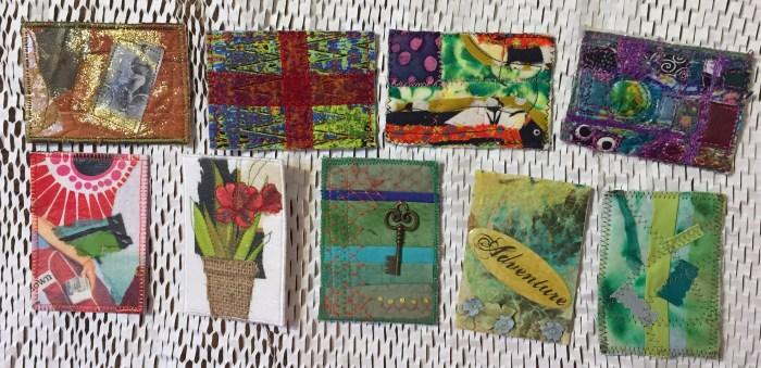 Artist Trading Cards. Ellen Lindner, AdventureQuilter.com/blog