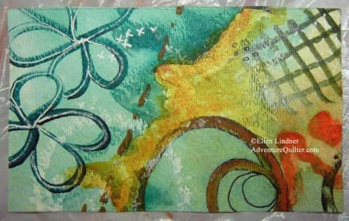 ketch for abstract art. Ellen Lindner, AdventureQuilter.com/blog