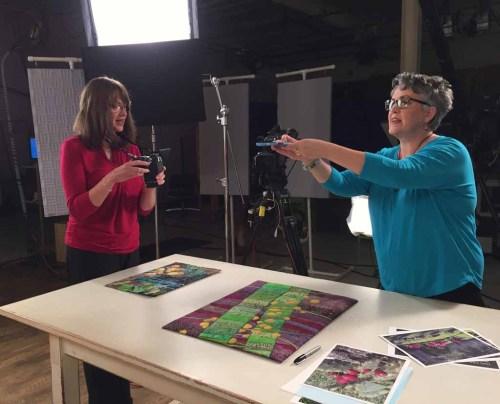 Ellen Lindner's stint on Quilting Arts TV. AdventureQuilter.com/blog
