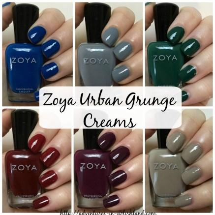 Zoya Nail Polish Urban Grunge Collection for Fall 2016 | Creams