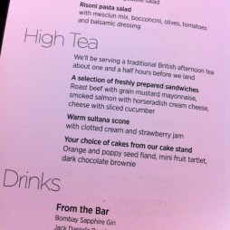 Virgin Atlantic Upper Class High Tea