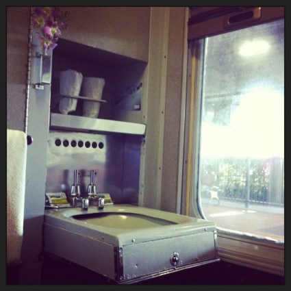 Sink in Sleeper Car, Sunlander Train