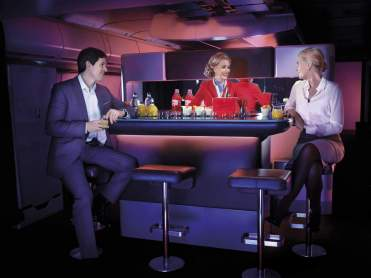 Virgin Atlantic Upper Class Bar, picture courtesy Virgin Atlantic