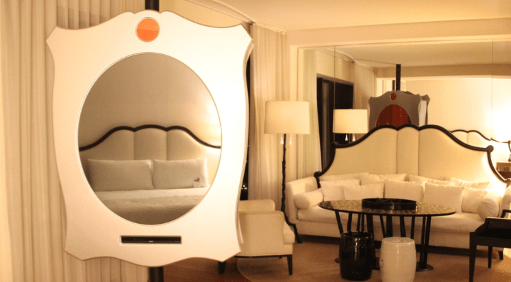 Magic Mirror TV, Mondrian Hotel Room, West Hollywood, Los Angeles