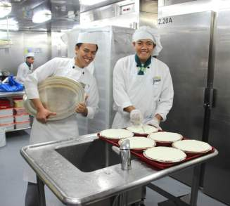 Behind the scenes on a HAL cruise galley tour