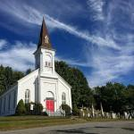 Country church and lonely cemetery in Craryville NY