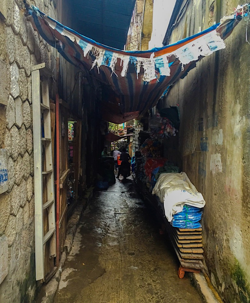 Alley in Old Quarter of Hanoi, Vietnam