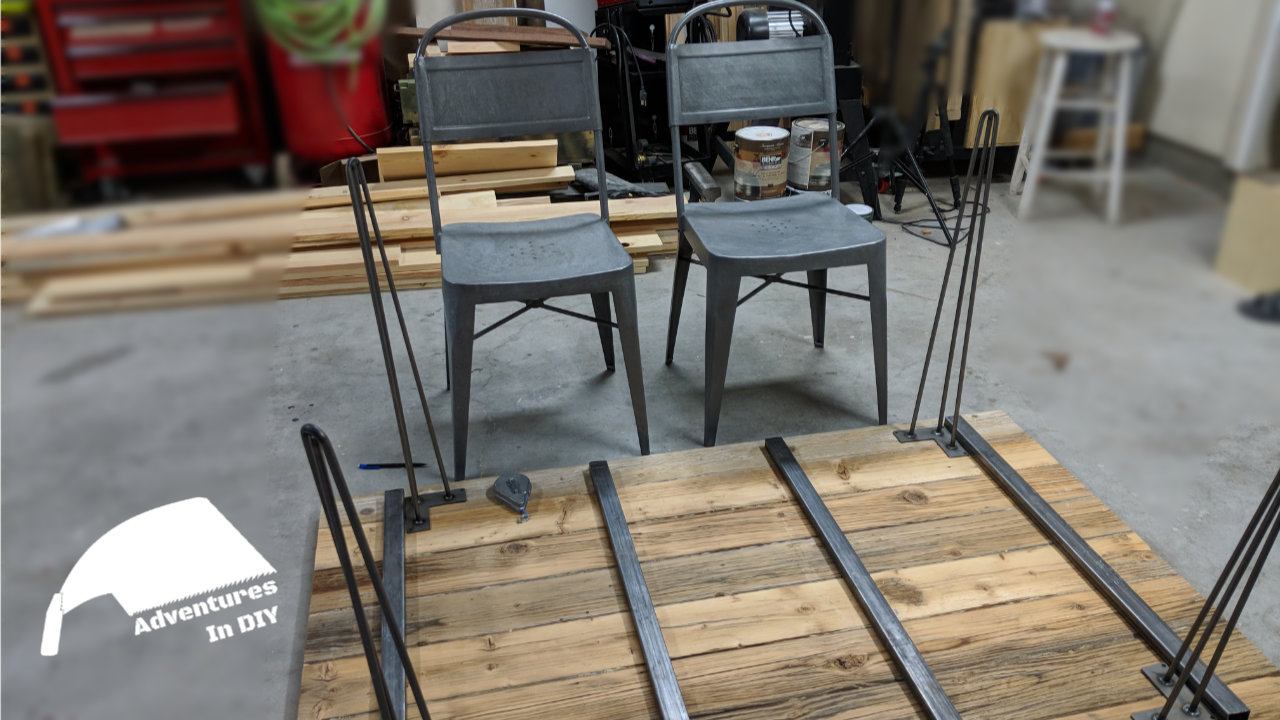 Hairpin Leg Reclaimed Wood Kitchen Table Adventures In Diy