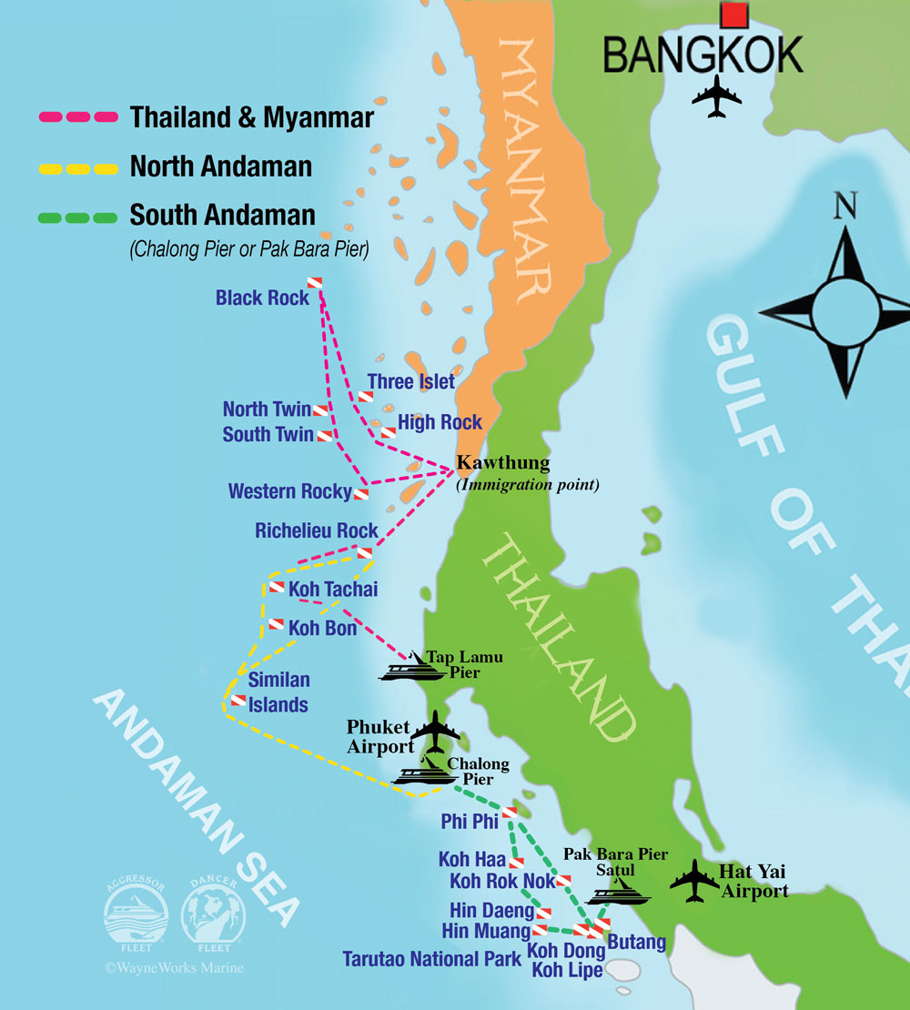 Travel Blog With Map Thailand Scuba Map Adventures Within Reach Travel Blog