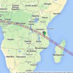 Annular Eclipse map