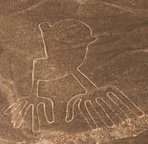Lineas de Nazca. Rayas y figuras en el desierto con 2000 años de antiguedad.
