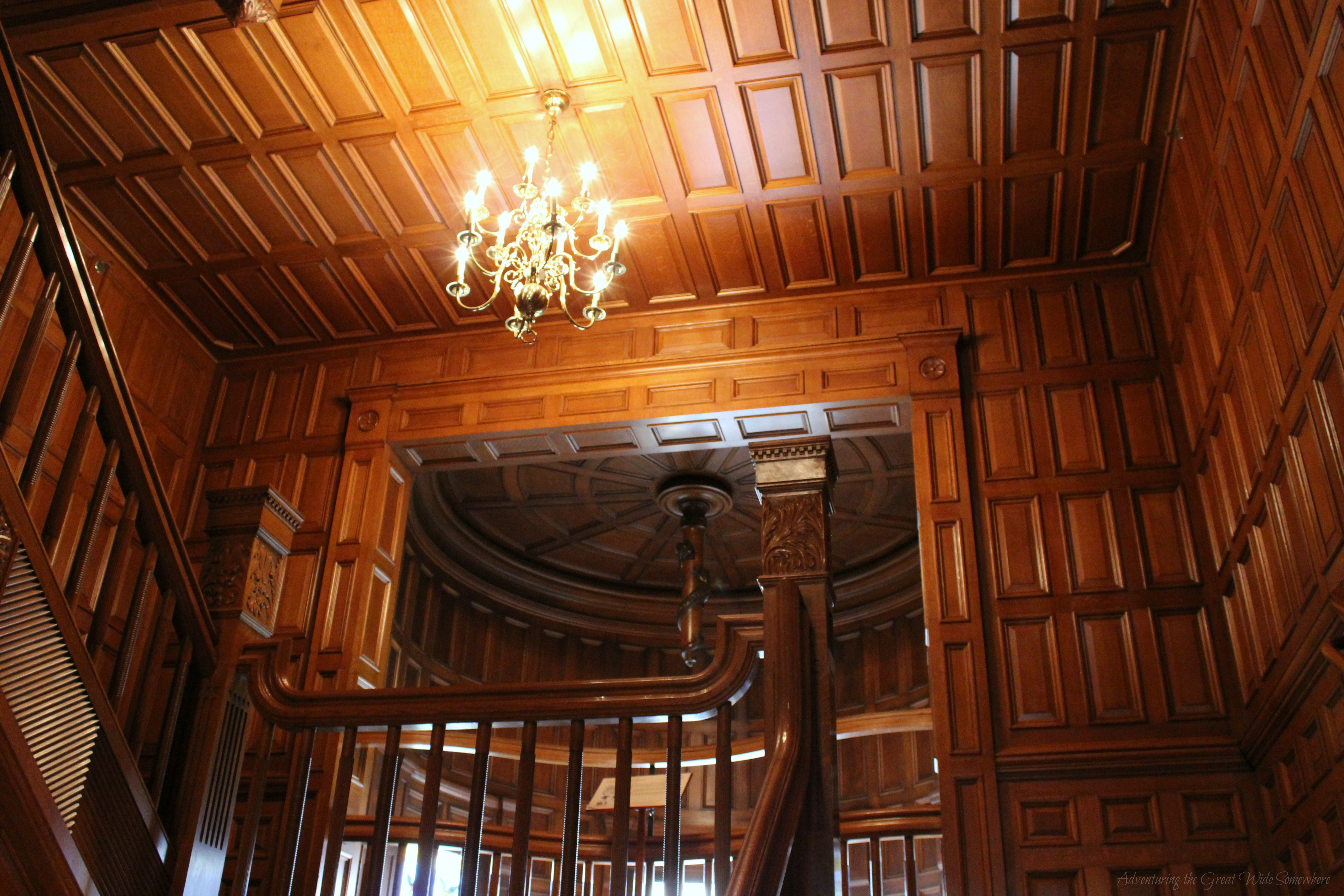 Paneled Staircase Majestic Wood Paneled Staircases Abound At Craigdarroch