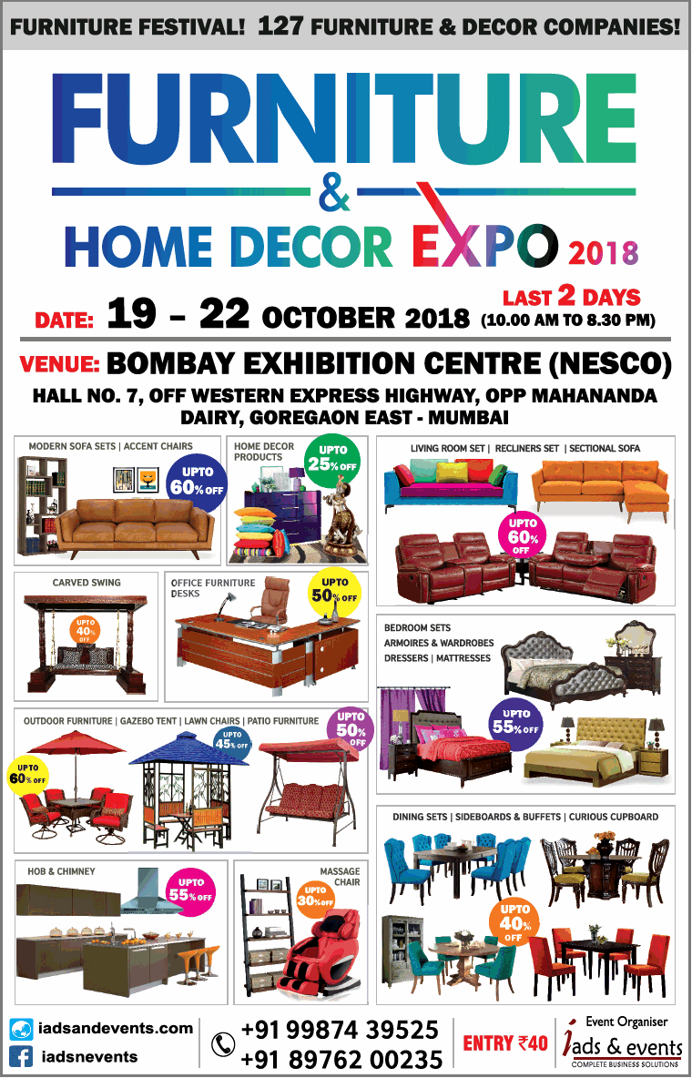 Home Decor Mumbai Furniture And Home Decor Expo 2018 Last 2 Days Ad Advert Gallery