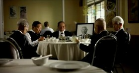 """Taiwan's TC Bank television commercial """"Dream Rangers"""": Old men mourning the passing of a friend."""