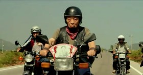 """Taiwan's TC Bank television commercial """"Dream Rangers"""": An old man brings along a photograph of his deceased wife on his motorcycle road trip."""