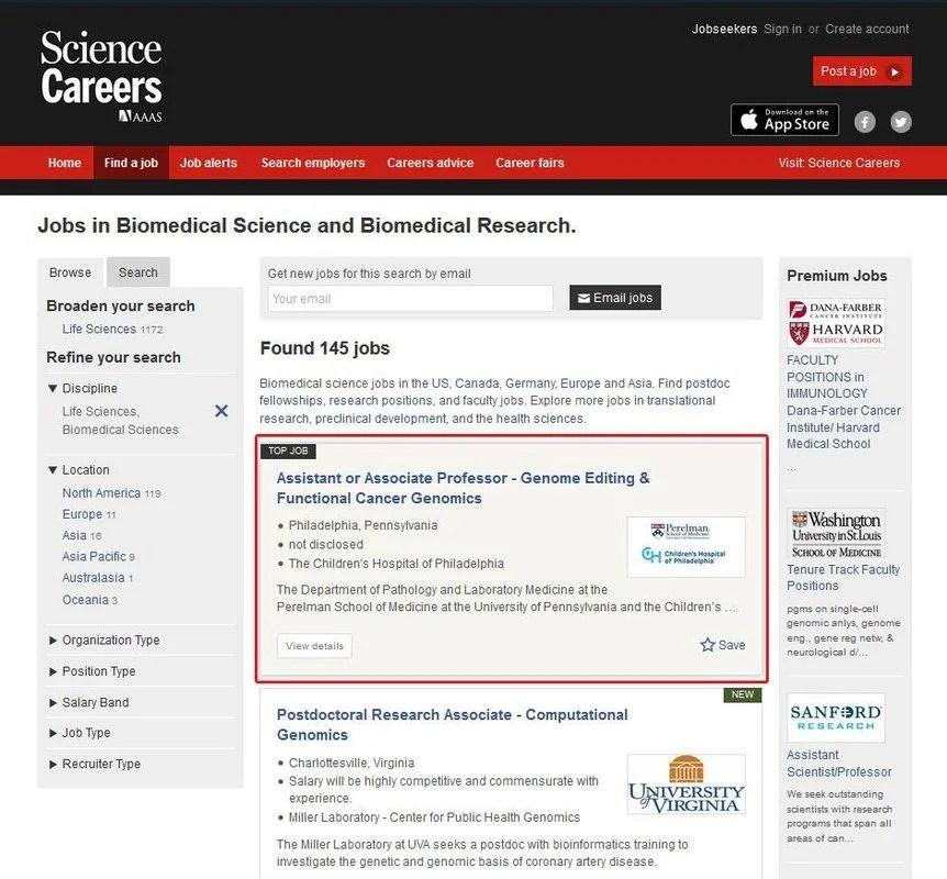 Top Scientist Job Opportunities Science Careers Job Board AAAS