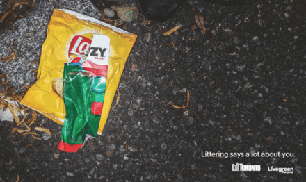 Anti-Littering Ads in Toronto: Littering Says A Lot About You