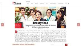 nirvana hair salon web designing