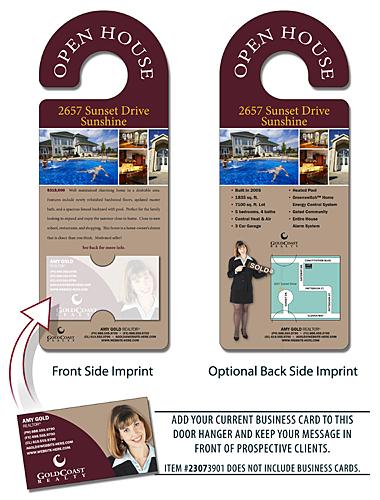 Real Estate Door Hanger - 4x105 Round Handle Door Hanger with