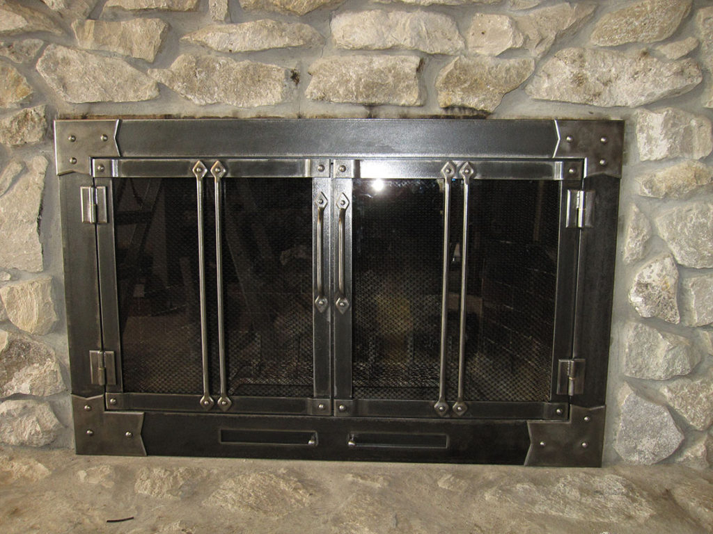 Custom Glass Fireplace Doors Fireplace Screens Doors By Advanced Welding Architectural