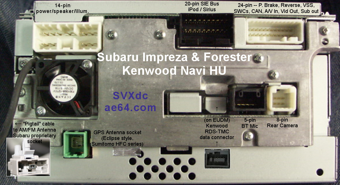 ae64 \u2014 Subaru Navi Transplant harness installation