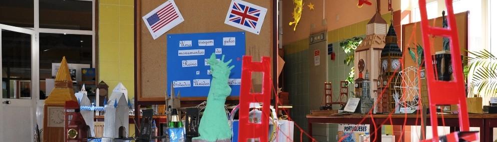 Aspecto da exposição dos monumentos do Reino Unido e EUA
