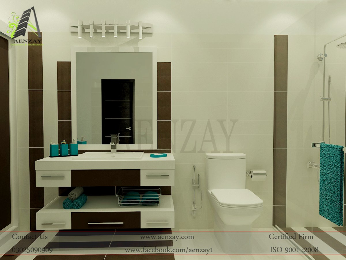 Design Interieur Ground Floor Bathroom Designed By Aenzay Aenzay