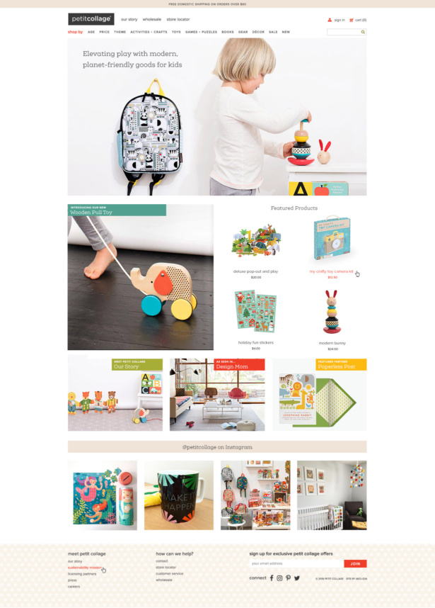 Designing Petit Collage\u0027s Shopify Website With Personality - Aeolidia