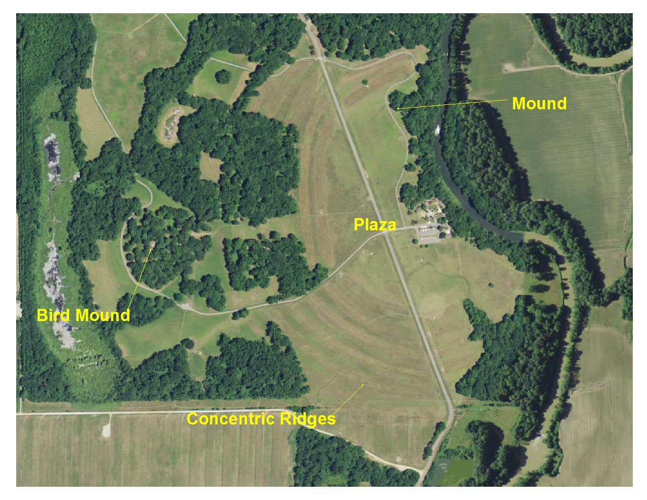 Aerial Photographs of Native American Earthworks in Louisiana
