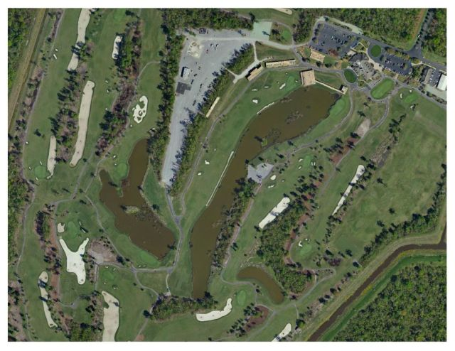 Aerial Photo of TPC Louisiana Golf Course in Avondale, Louisiana (Aero-Data, 2016)
