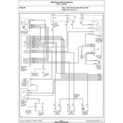 pdf ebook 1998 system wiring diagrams ford taurus