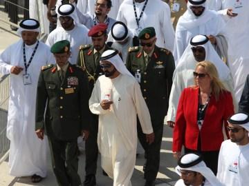 HH SHEIKH MOHAMMED BIN RASHID AL MAKTOUM OFFICIALLY OPENS DUBAI AIRSHOW 2015.  #aerobdnews  #thenewscompany