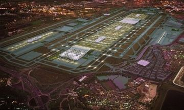 Design rendering of London Heathrow Airport's proposed third runway project. #aerobdnews #thenewscompany